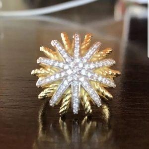 David yurman 18k gold starburst ring
